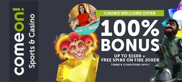 100% up to $1500 welcome bonus
