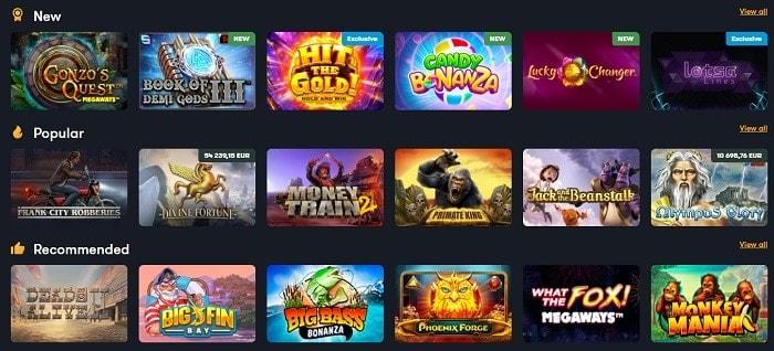 Frank Casino Games