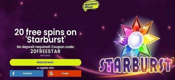 Starburst free spins bonus