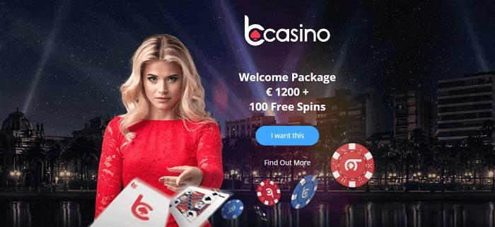 Get $1200 and 100 free spins bonus!