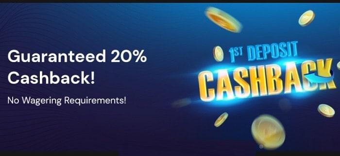 FortuneJack 20% Cashback