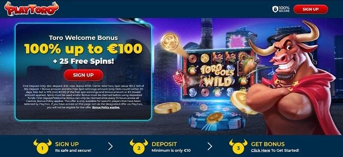 Play Toro Free Spins