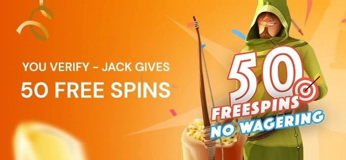 Verify Your Account and Get 50 Free Spins!