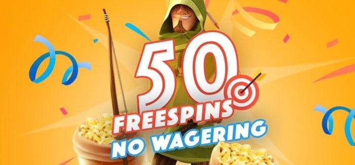 50 FS no wager bonus