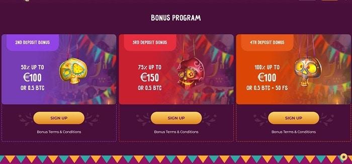 2nd, 3rd and 4th deposit bonus
