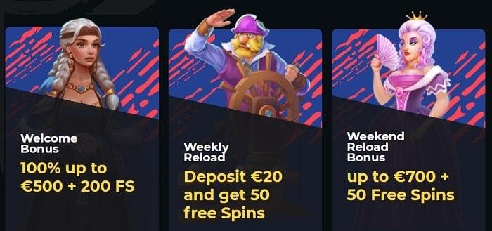 First Deposit Bonus and Reload Bonus