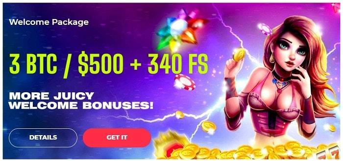 3 BTC welcome bonus