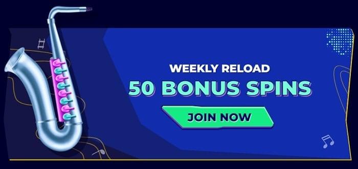 50 bonus spins