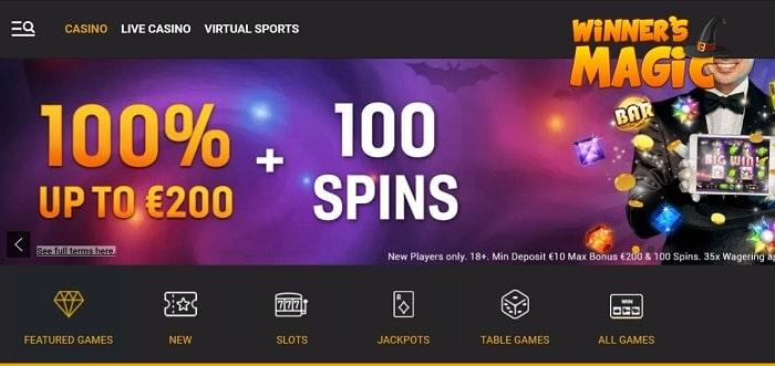 Winners Magic free spins