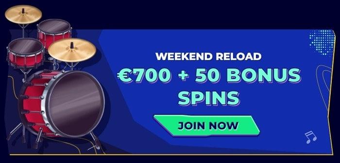 700 EUR + 50 free spins