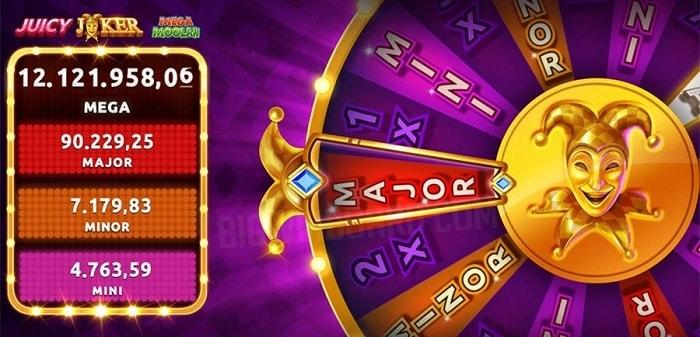 Juicy Joker Progressive Jackpot Wheel Feature
