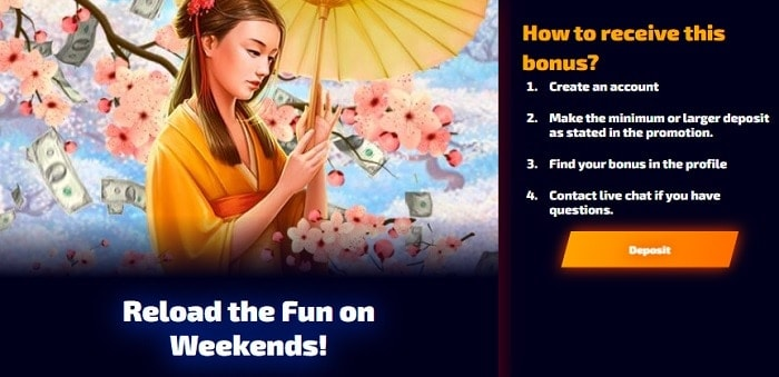 Reload Bonus Weekend
