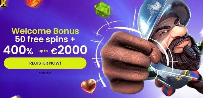 400% welcome bonus
