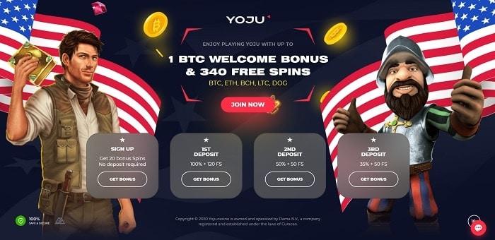 YOJU 3 BTC bonus