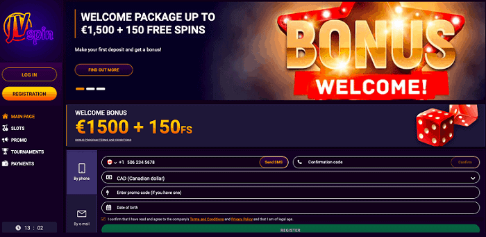 1500 euro bonus and 150 gratis spins for new players