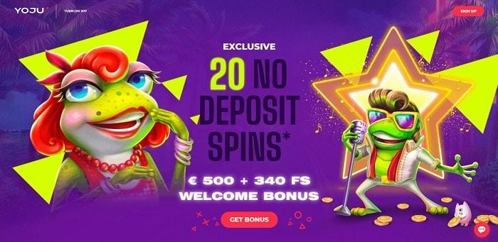 20 Free Spins on Elvis Frog in Vegas