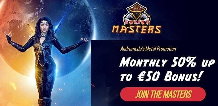 Monthly 50% up to 50 EUR Bonus