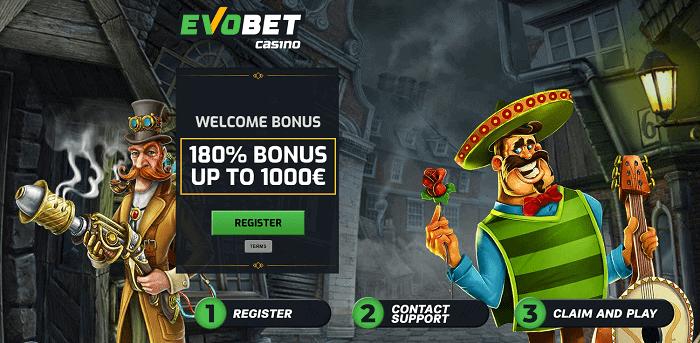 180% welcome bonus