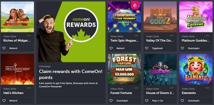 ComeOn Free Games