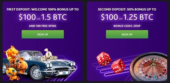 1st and 2nd deposit bonus
