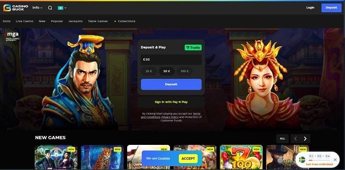 Get 100 free spins bonus code!