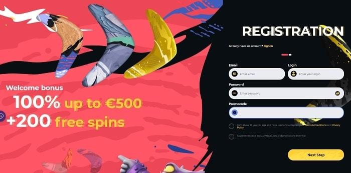 Boomerang 200 free spins on deposit