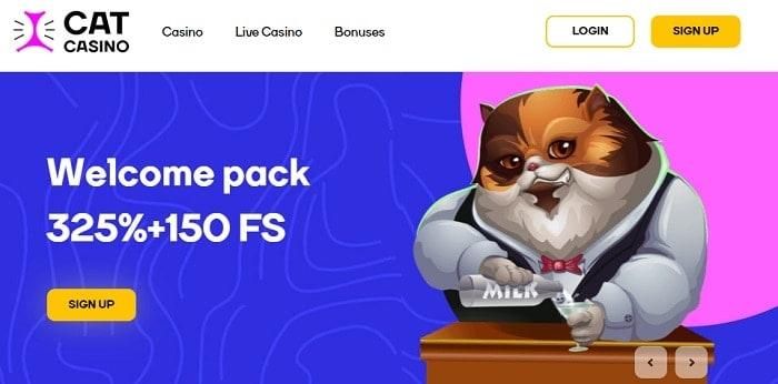 325% welcome bonus