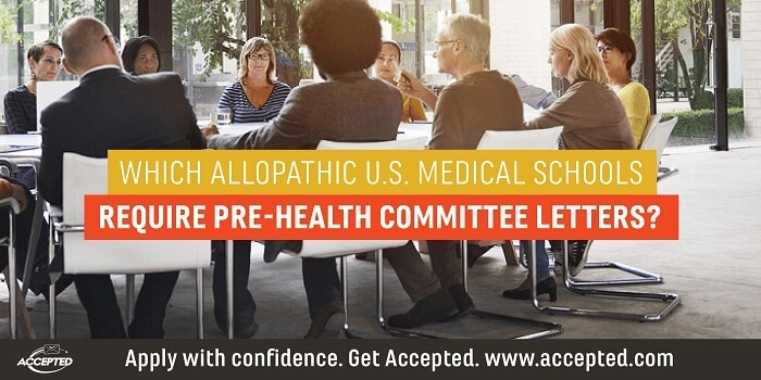 Which Allopathic US Med Schools Require a Committee Letter