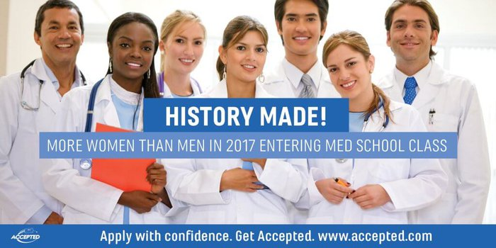 History Made: More Women Than Men in 2017 Entering Med School Class