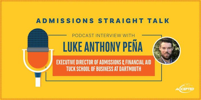 A Podcast interview with Luke Anthony Pena, Executive Director of Admissions & Financial Aid