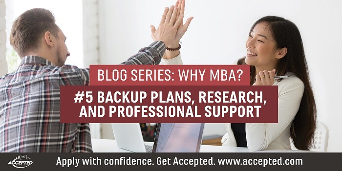 Backup plans, research and professional support