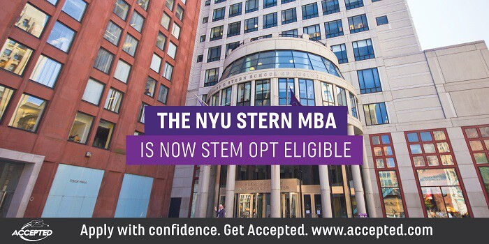 The NYU Stern MBA is Now STEM OPT Eligible