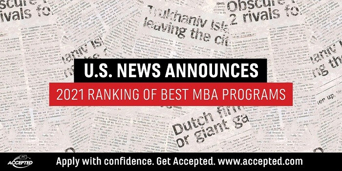 US News Announces 2021 Ranking of Best MBA Programs