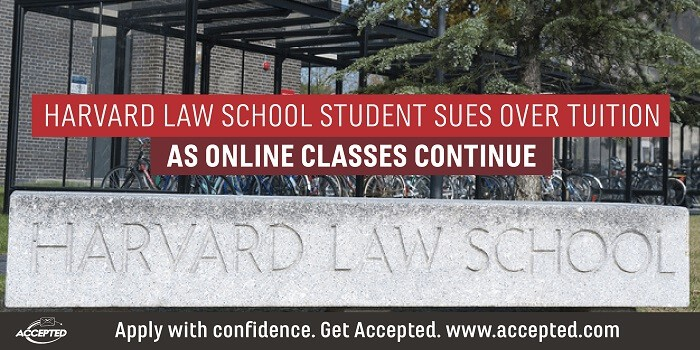 Harvard Law School Student Sues Over Tuition as Online Classes Continue