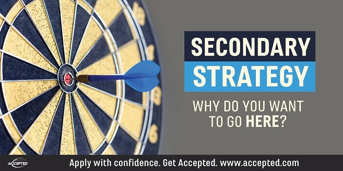 Secondary Strategy: Why Do You Want To Go Here?