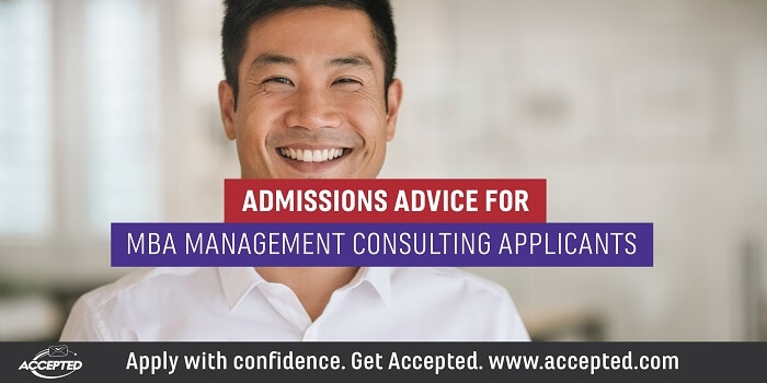 Admissions Advice for MBA Management Consulting Applicants