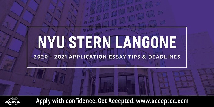 NYU Part-Time MBA Essay Tips & Deadlines