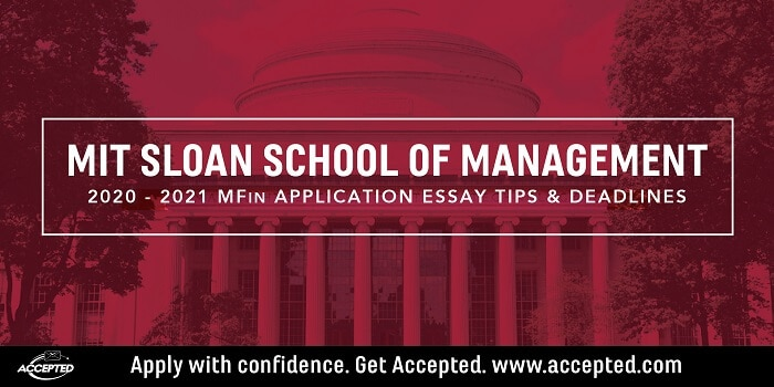 The MIT Sloan Masters in Finance essay tips and deadlines