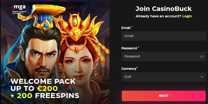 200 free spins bonus