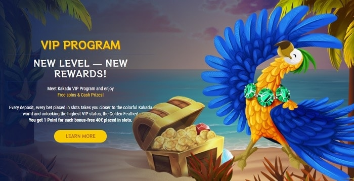 Kakadu VIP Program and Loyalty Rewards