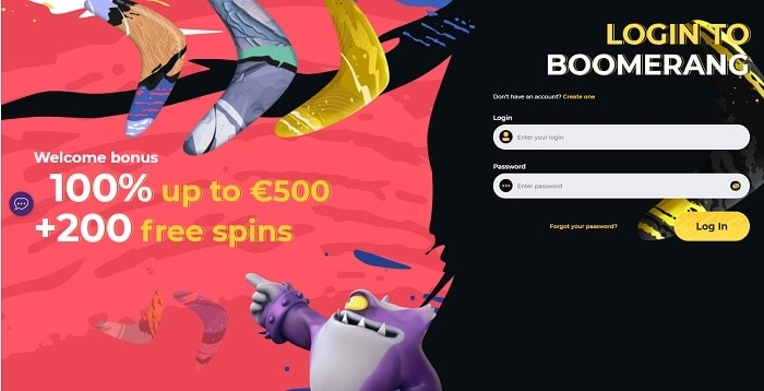 Open your account with Boomerang