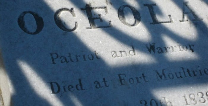 Close up picture of a gravestone. Ghosts of Charleston walking tour