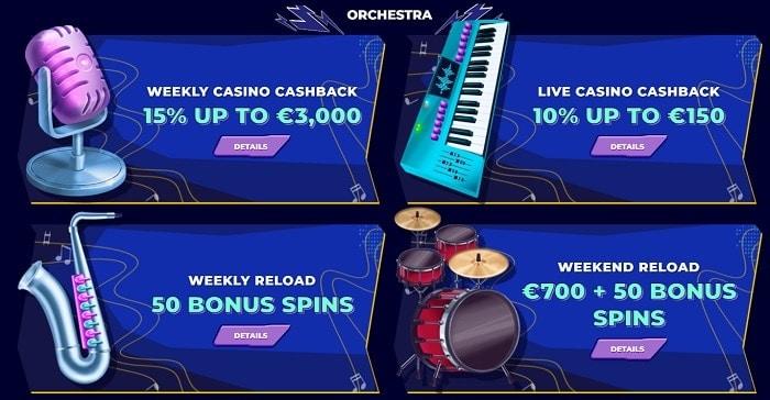 Daily Promotions, Weekly Bonuses, Cashback