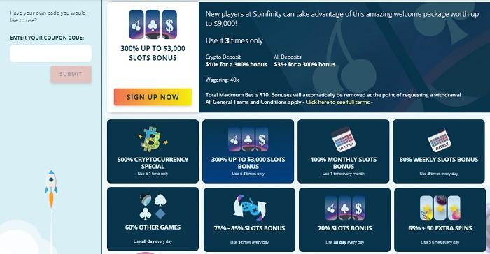 Spinfinity bonus code