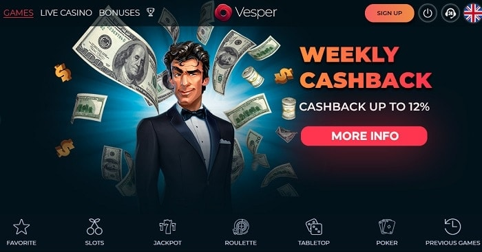 Vesper Casino Cashback