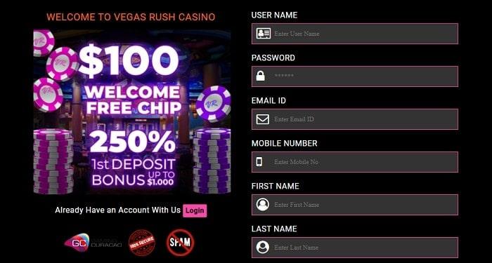 Vegas Casino Free Chips