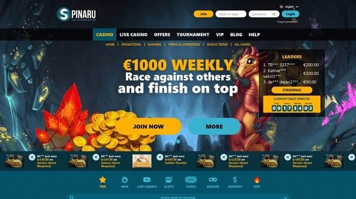 Spinaru.com Casino Review