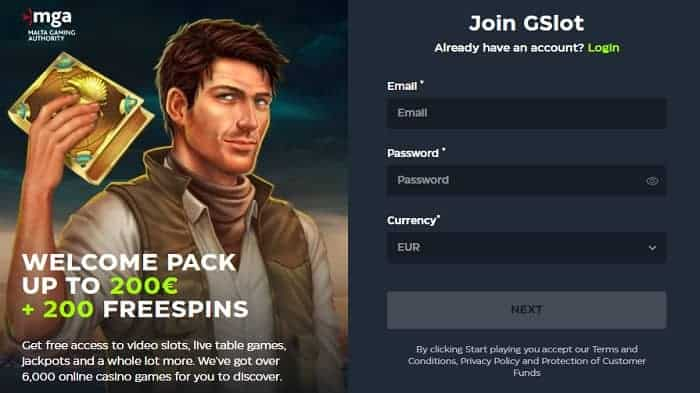 200 EUR and 200 Free Spins on Book of Dead