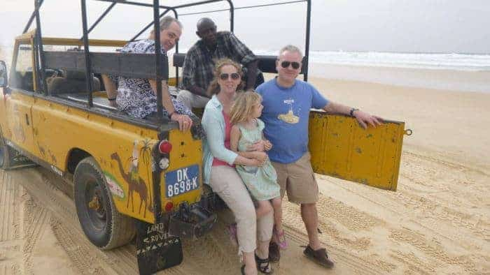 On the back of a truck riding the dunes the senegal