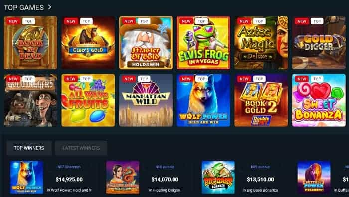 Top Slots and Table Games